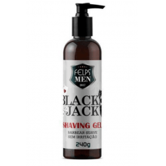 Felps Men Black Jack Shaving Gel Para Barbear 240g